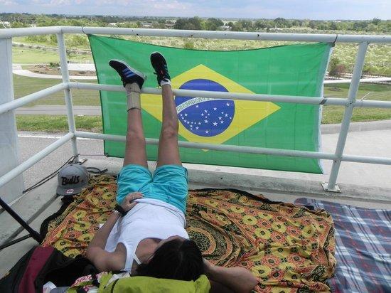 Hockley Park: equipe brasileira chillin
