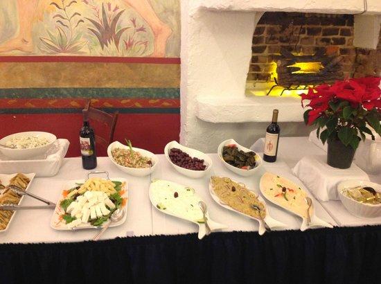 Taverna Cretekou: Buffet grego do Brunch de domingo (visão parcial)