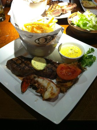 Miller & Carter: Steak with Grilled half Lobster Tail