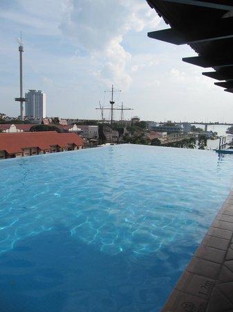 Casa del Rio Melaka : Infinity pool overlooking river
