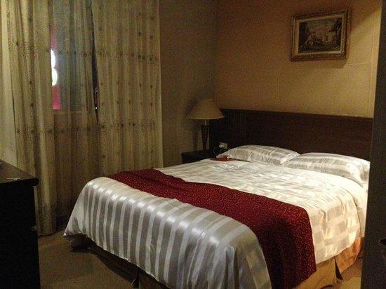 Dahshin Hotel : ベッド 空調なかなか良く効きます