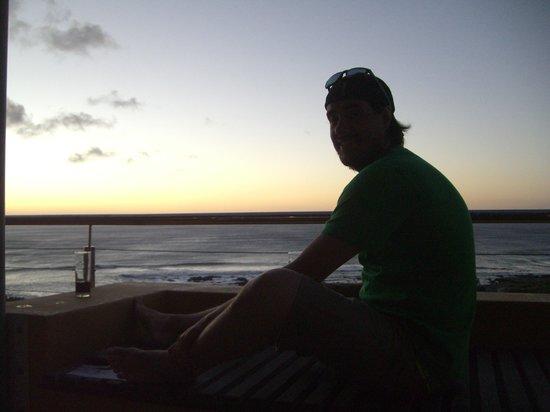 Crayfish Lodge Sea & Country Guest House: Sonnenuntergang auf der Dachterrasse