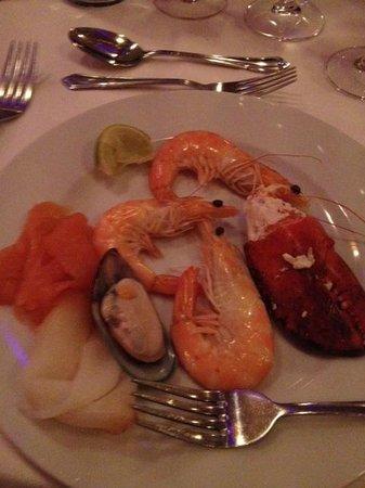 Careys Manor Hotel & SenSpa: Seafood platter