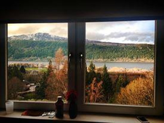 Lodges on Loch Ness: view from another double room