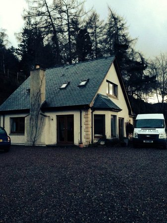 Lodges on Loch Ness: front of the house