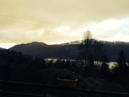 Lodges on Loch Ness: view from front door
