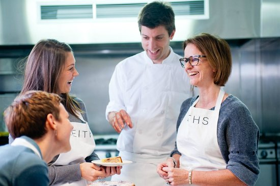 Leiths School of Food and Wine: Teacher and students