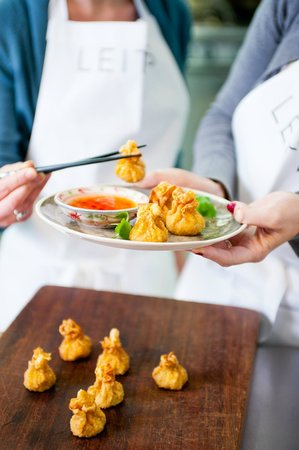 Leiths School of Food and Wine: Wontons with sweet chilli dipping sauce