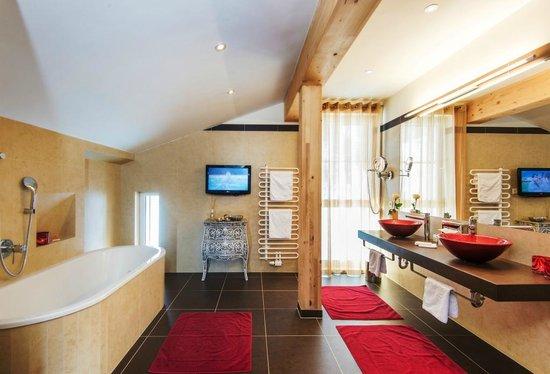 Hotel Enzian : Badezimmer Panorama Suite
