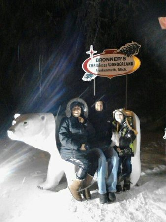 Bronner's Christmas Wonderland: It was FREEZING and blowing snow but we enjoyed every minute!