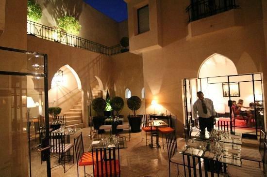 Villa Flore : le riad intérieur