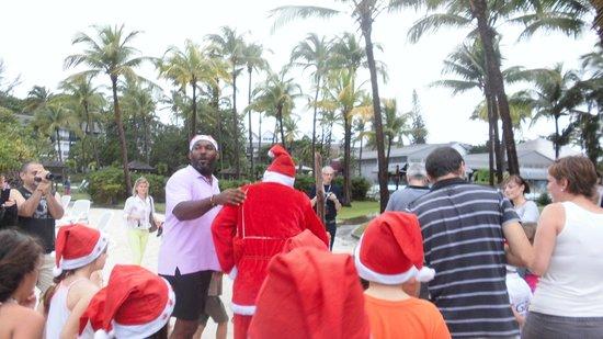 La Creole Beach Hotel & Spa: noel a la plage