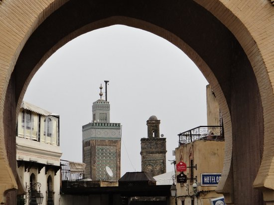 Bab Boujloud : Arch with minarets