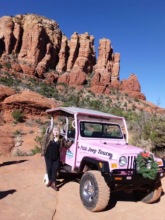 Pink Jeep Tours Sedona: Me at the jeep