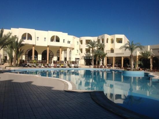 Green Palm : facade piscine