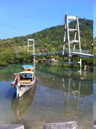PP Red Tuna Hut: This bridge is the entrance to the village