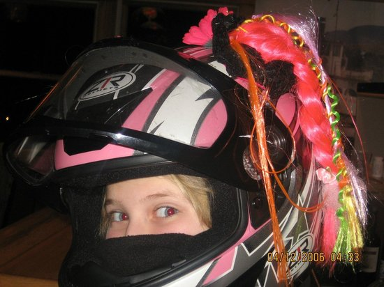 Raquette Lake Navigation Co : So she can find her helmet