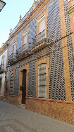 Castillo de Niebla : Case con ceramiche sui muri