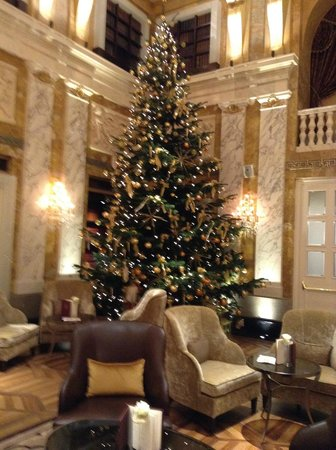Hotel Imperial Vienna: Christmas tree in bar