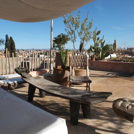 Riad 144 Marrakech : TERRASSE PETIT DEJEUNER