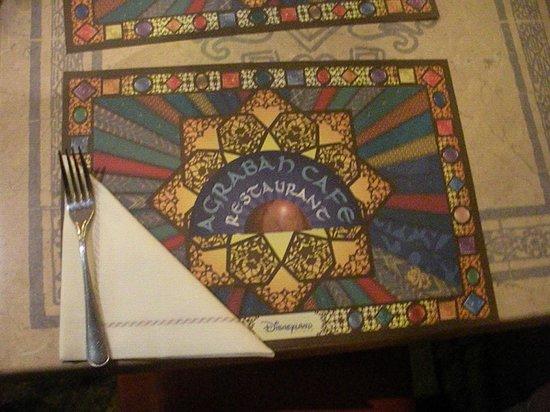 Agrabah Cafe: tovagliette