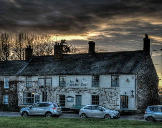 The Dabbling Duck: The view of the inn from the green