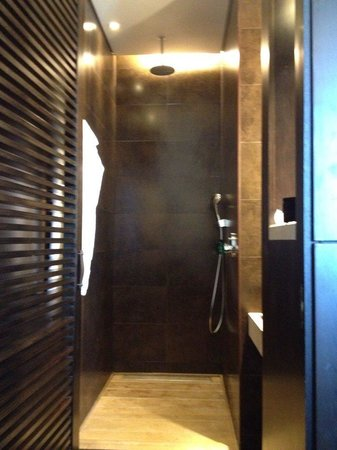 Sofitel Montevideo Casino Carrasco & Spa : The shower, as you can see the door let's people see you from the outside