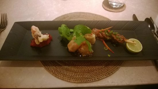 The Restaurant at The Chedi Muscat: appetizer sampler