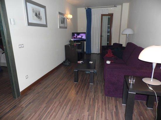 Hotel Rice Palacio de los Blasones: Salón de la habitación