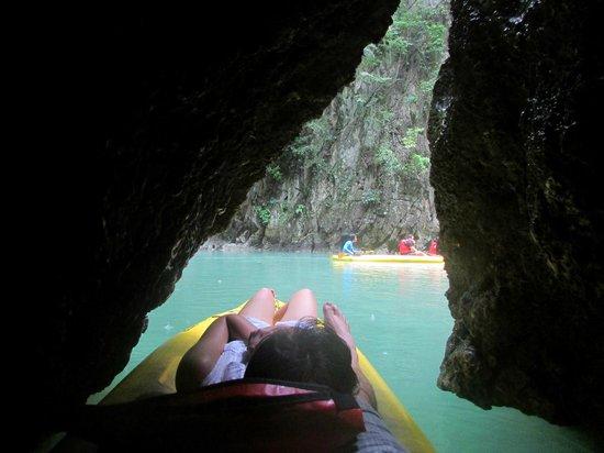 John Gray's Sea Canoe: Exit from cave
