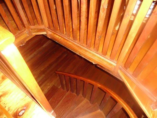 Good Hope Retreat: Stairway to the kitchen