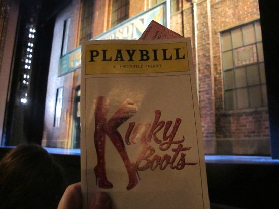 Kinky Boots on Broadway: from the second row Orchestra seat