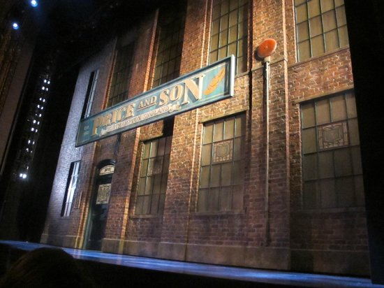 Kinky Boots on Broadway: the stage from second row Orchestra