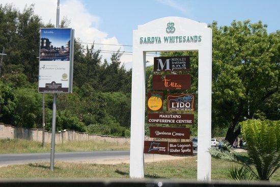 Sarova Whitesands Beach Resort & Spa: sign post for sarova