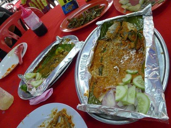 Sea terrace: otak otak and fish!