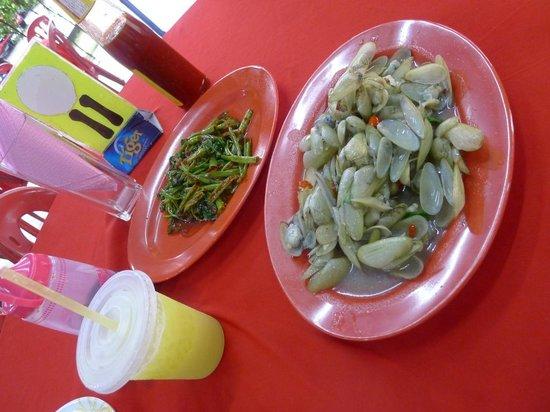 Sea terrace: lala and kangkung belacan