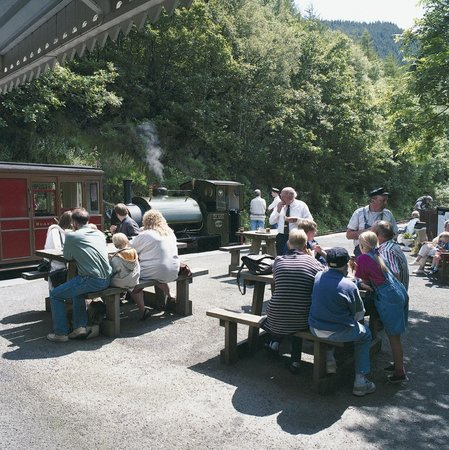 Talyllyn Railway: relaxing with the crew (and engine)