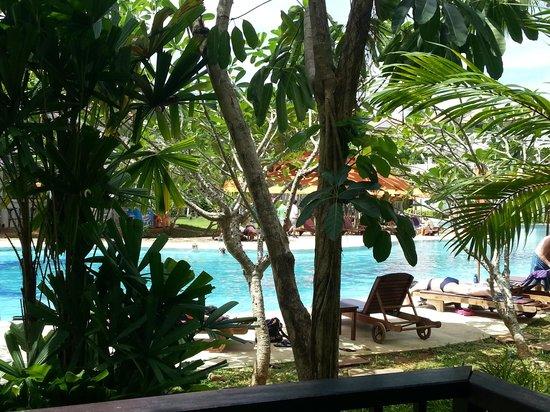 Aonang Villa Resort: bassengområdet tatt fra terrassen