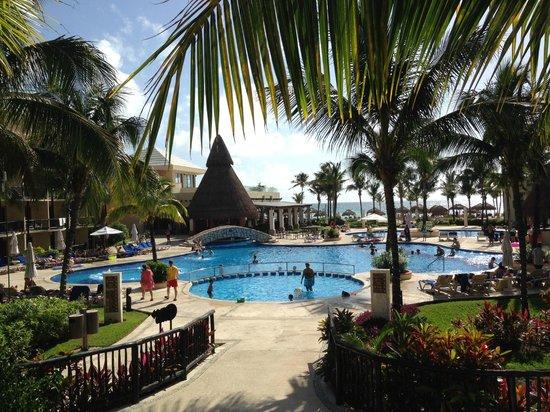 Catalonia Yucatan Beach: view from reception