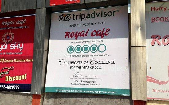 Royal Cafe: Proudly Displayed