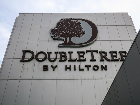 DoubleTree by Hilton Kuala Lumpur: The logo of the hotel, seen from the Executive Lounge balcony