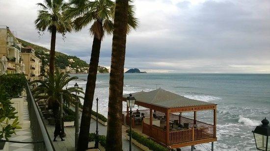 Grand Hotel Alassio : Vue depuis la terrasse