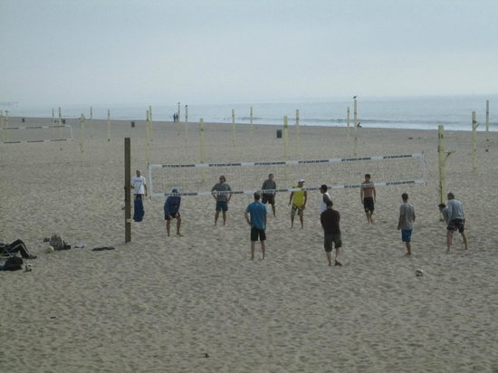 Beach volleyball at Manhattan Beach