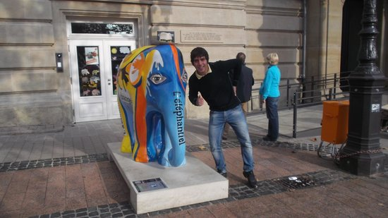 Place d'Armes : me with the elephant
