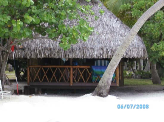 Le Sauvage Private Island : Our bungalow, right on the beach