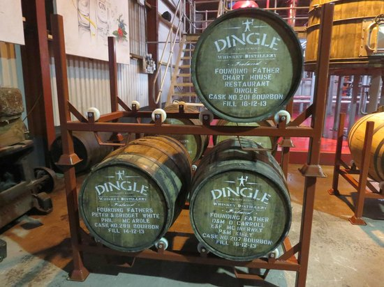 Dingle Whiskey Distillery: Dingle Distillery barrels