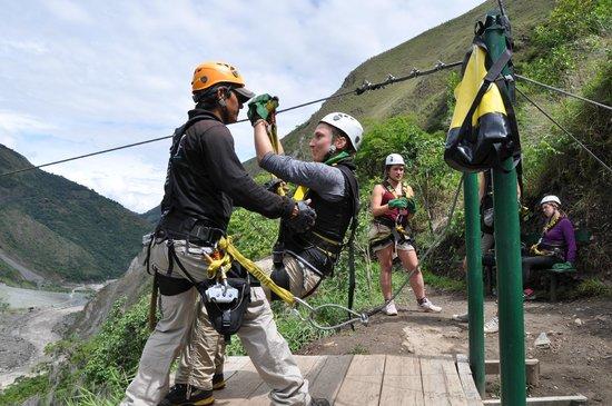 Zipline Inka Flyer Santa Teresa: fast start