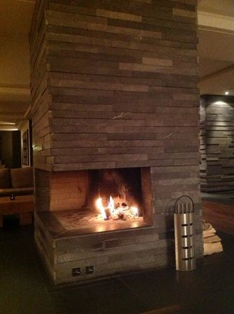 The Cambrian : the cosy fireplace