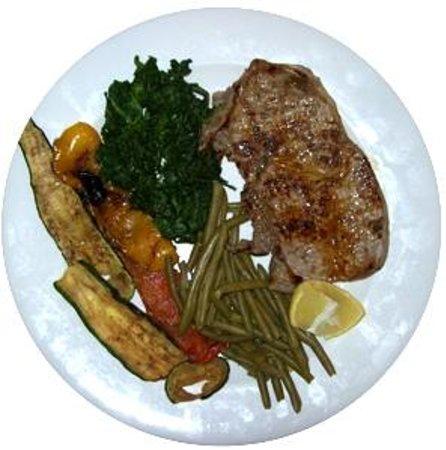 Bistecca di roast-beef con verdure grigliate - Picture of Bistrot58 ...