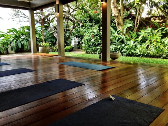 Amangalla: yoga room